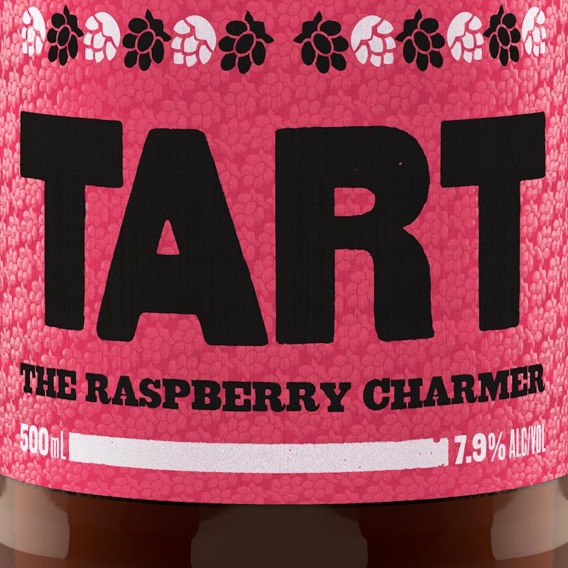 The rasberry charmer launch including name, packaging design and advertising material.