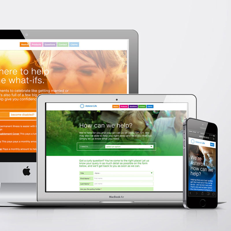 Asteron Life making life insurance easy with it's mobile friendly site.