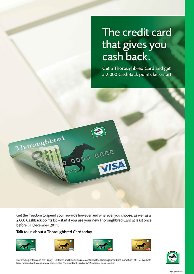 National Bank CashBack credit card.