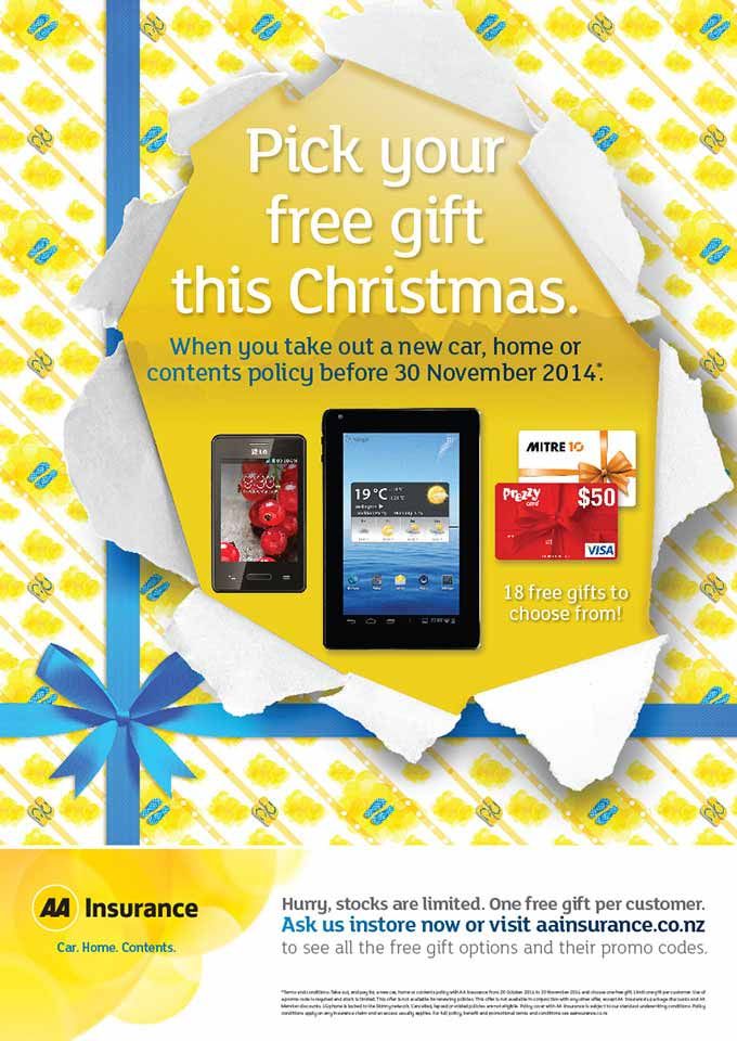 AA Insurance pick your present campaign.